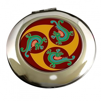 Native Art Round Mirror