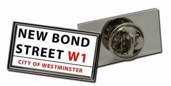 New Bond Street Rectangle Pin Badge