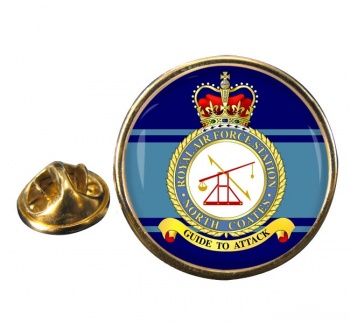 RAF Station North Coates Round Pin Badge
