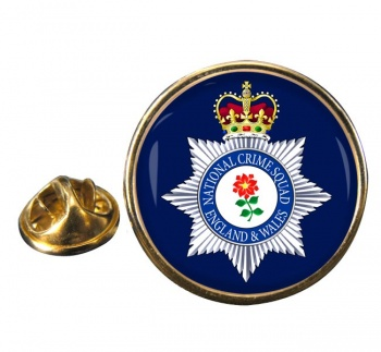 National Crime Squad Round Pin Badge