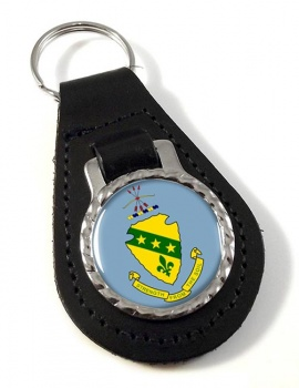 North Dakota  Leather Key Fob
