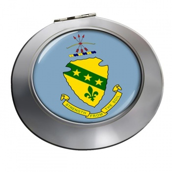 North Dakota  Round Mirror