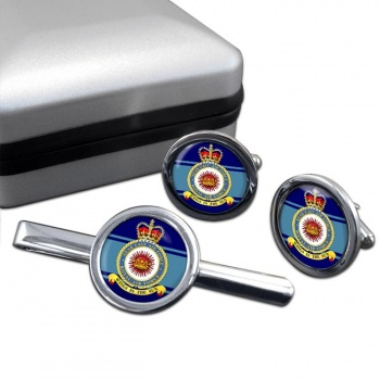 Near East Air Force (Royal Air Force) Round Cufflink and Tie Clip Set