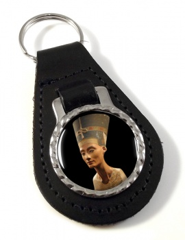 Neferneferuaten Nefertiti Leather Key Fob