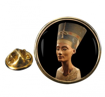Neferneferuaten Nefertiti Round Pin Badge
