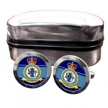 RAF Station Negombo Round Cufflinks