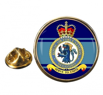 RAF Station Negombo Round Pin Badge