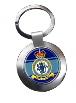 RAF Station Negombo Chrome Key Ring