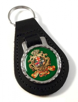 North Eastern Railway Leather Keyfob