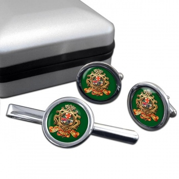 North Eastern Railway Cufflink and Tie Clip Set