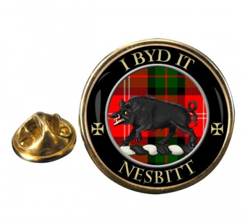 Nesbitt Scottish Clan Round Pin Badge