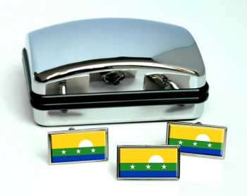 Nueva Esparta (Venezuela) Flag Cufflink and Tie Pin Set