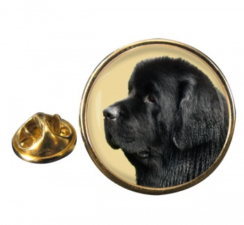 Newfoundland Dog Round Pin Badge