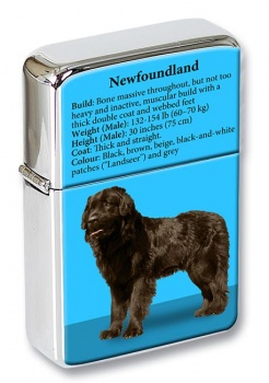 Newfoundland Dog Flip Top Lighter