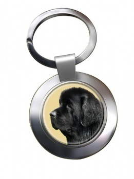 Newfoundland Dog Metal Key Ring