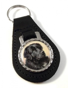 Newfoundland Dog by Reichert Leather Key Fob