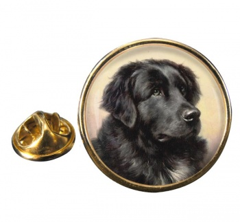 Newfoundland Dog by Reichert Round Pin Badge