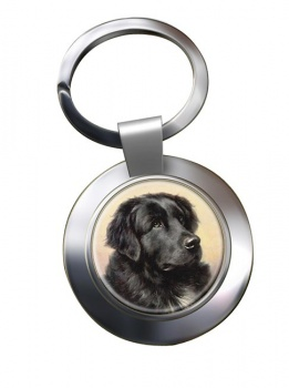 Newfoundland Dog by Reichert Metal Key Ring