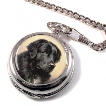 Newfoundland Dog by Reichert Pocket Watch