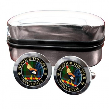 Newlands Scottish Clan Round Cufflinks