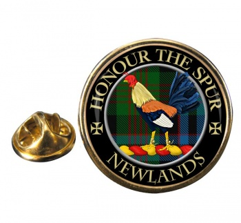 Newlands Scottish Clan Round Pin Badge