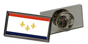 New Orleans LA  Flag Pin Badge