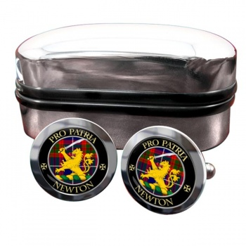 Newton Scottish Clan Round Cufflinks