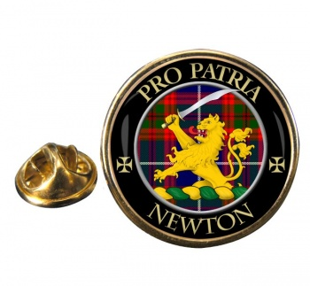 Newton Scottish Clan Round Pin Badge