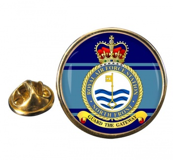 RAF Station North Front Round Pin Badge