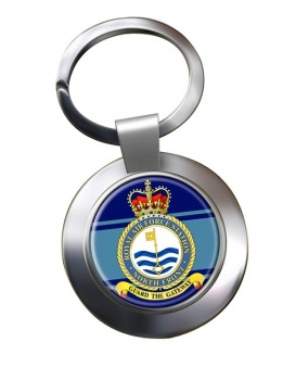 RAF Station North Front Chrome Key Ring