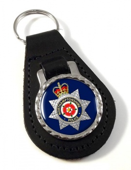 Northamptonshire Police Leather Key Fob