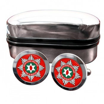 Northern Ireland Fire and Rescue Round Cufflinks
