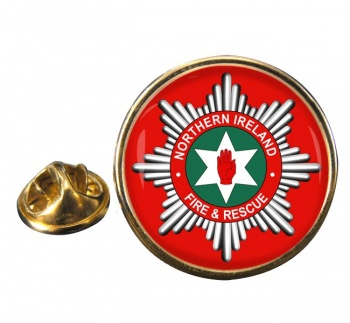Northern Ireland Fire and Rescue Round Pin Badge