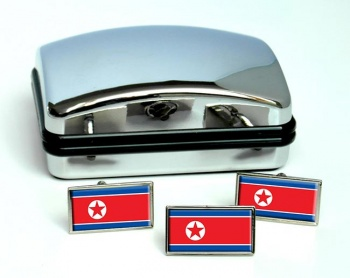 North Korea  Flag Cufflink and Tie Pin Set