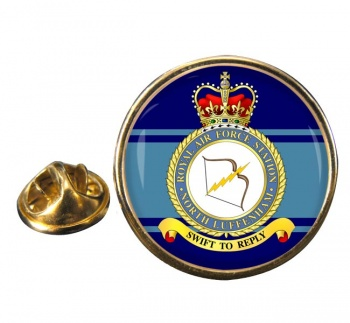 RAF Station North Luffenham Round Pin Badge