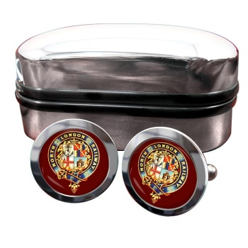 North London Railway Round Cufflinks