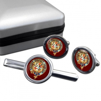 North London Railway Cufflink and Tie Clip Set
