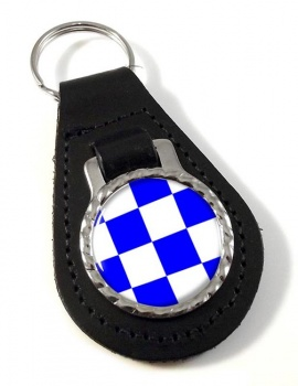 November Negative Distress Flag Leather Keyfob
