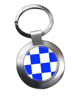 November Negative Distress Flag Chrome Key Ring