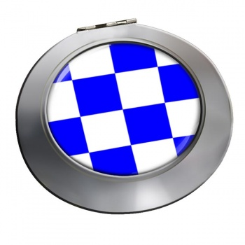 November Negative Distress Flag Chrome Mirror