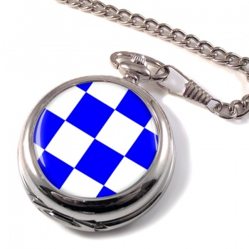 November Negative Distress Flag Pocket Watch