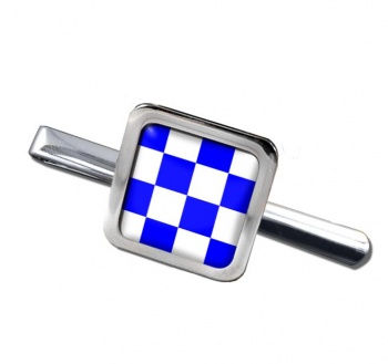 November Negative Distress Flag Square Tie Clip
