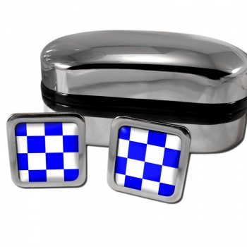 November Negative Distress Flag Square Cufflinks