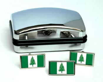 Norfolk Island Flag Cufflink and Tie Pin Set