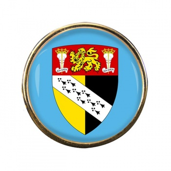Norfolk (England) Round Pin Badge