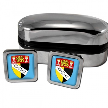 Norfolk England Square Cufflinks