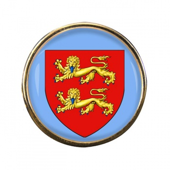 Normandie (France) Round Pin Badge