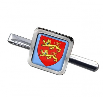 Normandie (France) Square Tie Clip