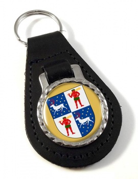 Norrbotten (Sweden) Leather Key Fob
