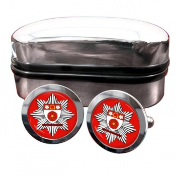 Northamptonshire Fire and Rescue Service Round Cufflinks